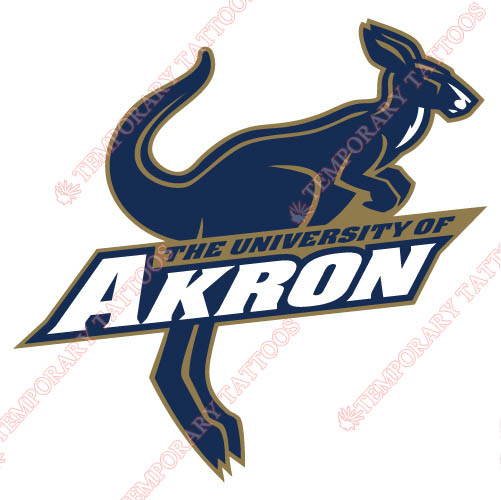 Akron Zips Customize Temporary Tattoos Stickers NO.3699
