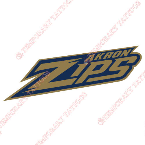 Akron Zips Customize Temporary Tattoos Stickers NO.3700