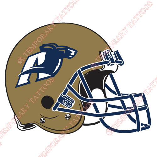 Akron Zips Customize Temporary Tattoos Stickers NO.3701