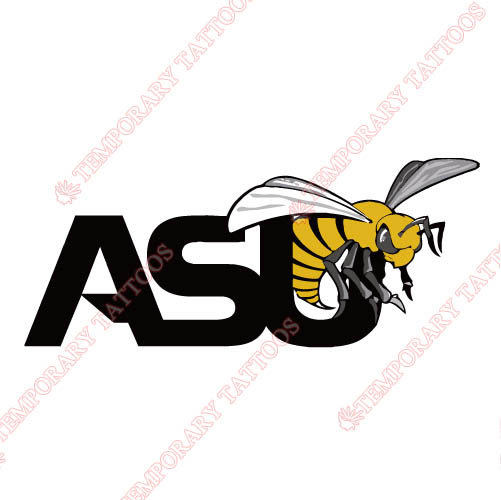 1999-Pres Alabama State Hornets Primary Customize Temporary Tattoos Stickers NO.3710