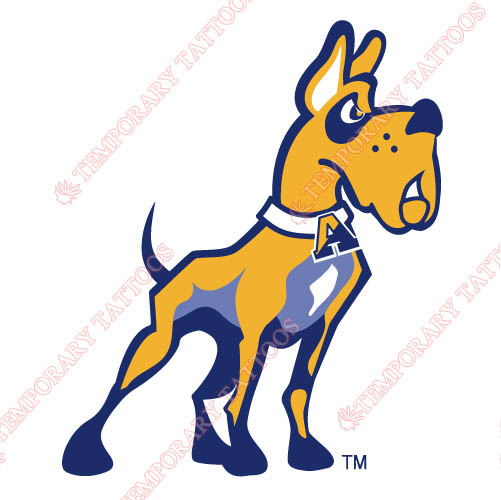 Albany Great Danes 2004-Pres Partial Customize Temporary Tattoos Stickers NO.3713