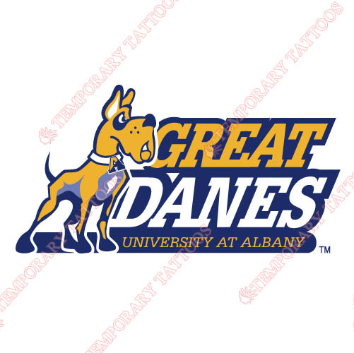 Albany Great Danes 2004-Pres Primary Customize Temporary Tattoos Stickers NO.3714