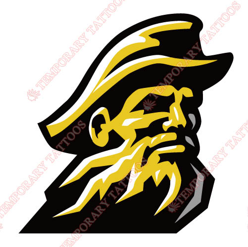 Appalachian St. Mountaineers 2004 Alternate Customize Temporary Tattoos Stickers NO.3720
