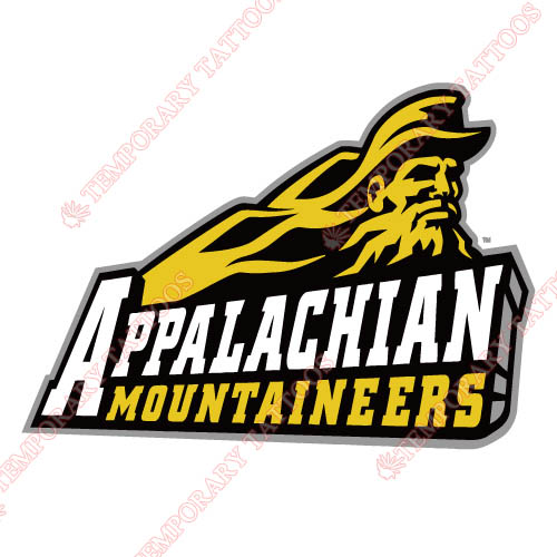 Appalachian St. Mountaineers 2004 Primary Customize Temporary Tattoos Stickers NO.3721