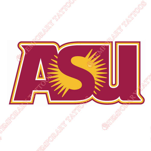 Arizona State Sun Devils 1980 Customize Temporary Tattoos Stickers NO.3723