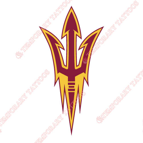 Arizona State Sun Devils 2011 Customize Temporary Tattoos Stickers NO.3724