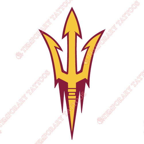 Arizona State Sun Devils 2011 Customize Temporary Tattoos Stickers NO.3725