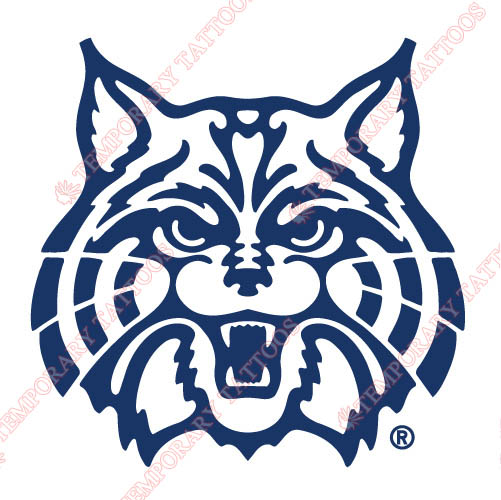 Arizona Wildcats 1990 Pres Alternate Customize Temporary Tattoos Stickers NO.3726