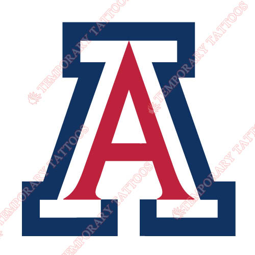 Arizona Wildcats 1990 Pres Primary Customize Temporary Tattoos Stickers NO.3727
