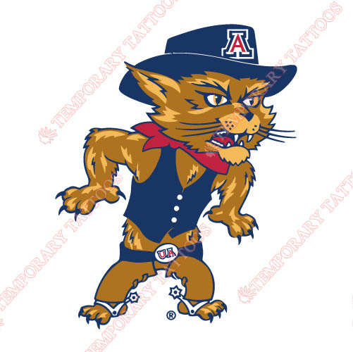 Arizona Wildcats 2003 Pres Mascot Customize Temporary Tattoos Stickers NO.3728