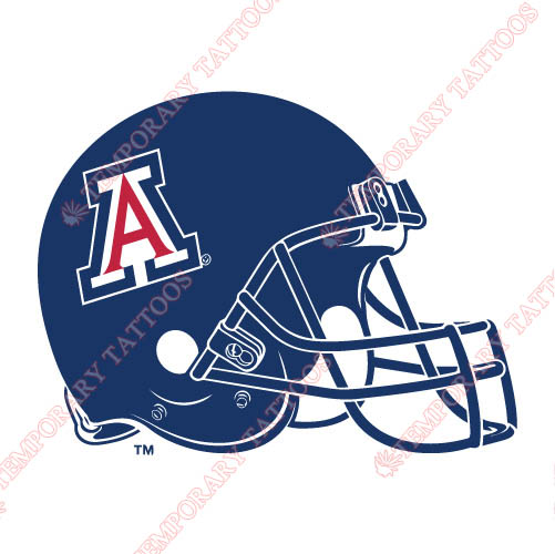 Arizona Wildcats 2004 Pres Helmet Customize Temporary Tattoos Stickers NO.3729