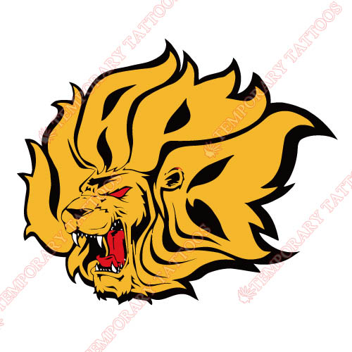 Arkansas PB Golden Lions Customize Temporary Tattoos Stickers NO.3753