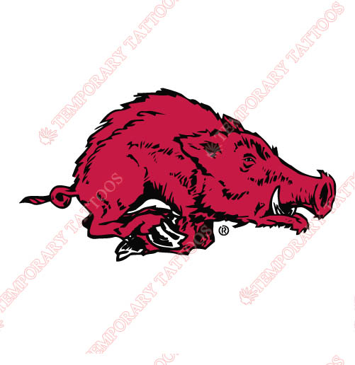 Arkansas Razorbacks 1967 1979 Alternate Customize Temporary Tattoos Stickers NO.3731