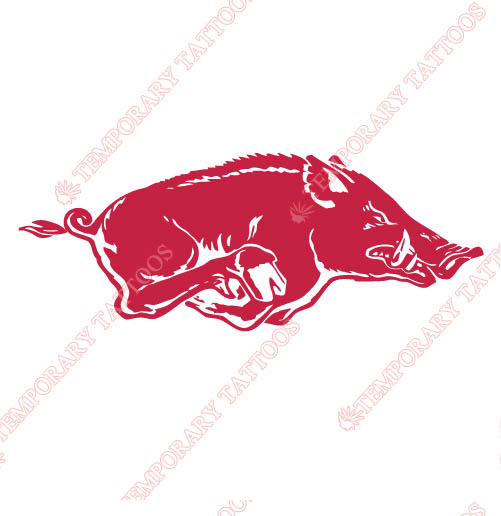 Arkansas Razorbacks 1967 2000 Primary Customize Temporary Tattoos Stickers NO.3732