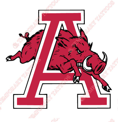 Arkansas Razorbacks 1974 1993 Alternate Customize Temporary Tattoos Stickers NO.3733
