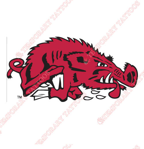 Arkansas Razorbacks 1976 1993 Alternate Customize Temporary Tattoos Stickers NO.3734