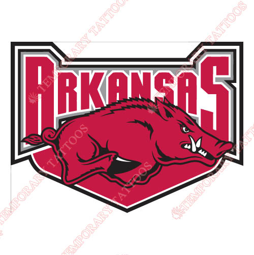 Arkansas Razorbacks 2001 2008 Alternate Customize Temporary Tattoos Stickers NO.3736