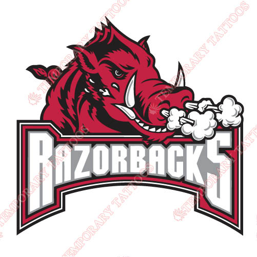 Arkansas Razorbacks 2001 2008 Alternate Logo2 Customize Temporary Tattoos Stickers N3737