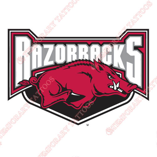 Arkansas Razorbacks 2001 2008 Alternate Logo3 Customize Temporary Tattoos Stickers N3738