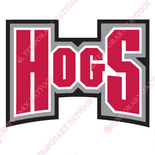 Arkansas Razorbacks 2001 2008 Wordmark Customize Temporary Tattoos Stickers NO.3739