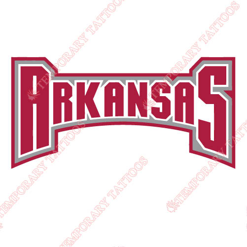Arkansas Razorbacks 2001 2008 Wordmark Logo1 Customize Temporary Tattoos Stickers N3740