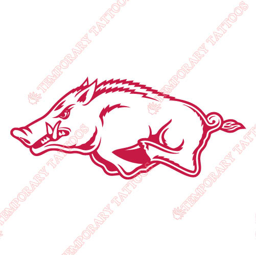 Arkansas Razorbacks 2001 Pres Alternate Customize Temporary Tattoos Stickers NO.3743