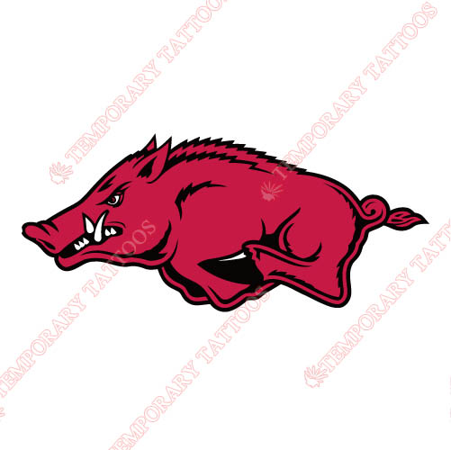 Arkansas Razorbacks 2001 Pres Alternate Logo2 Customize Temporary Tattoos Stickers N3744