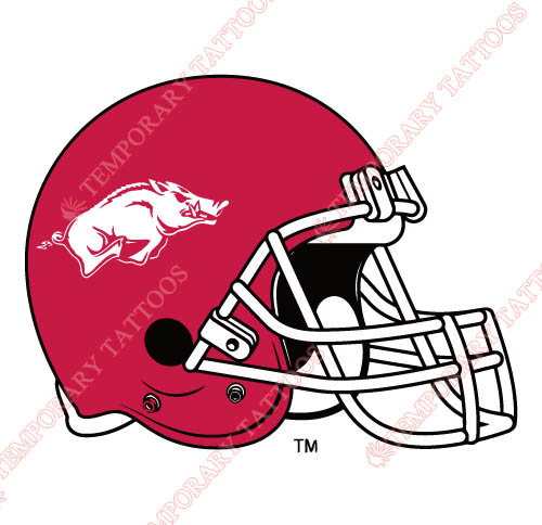 Arkansas Razorbacks 2001 Pres Helmet Customize Temporary Tattoos Stickers NO.3745
