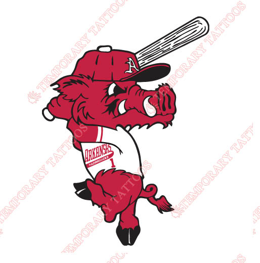 Arkansas Razorbacks 2001 Pres Mascot Customize Temporary Tattoos Stickers NO.3746