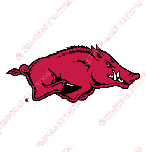 Arkansas Razorbacks 2001 Pres Primary Customize Temporary Tattoos Stickers NO.3747