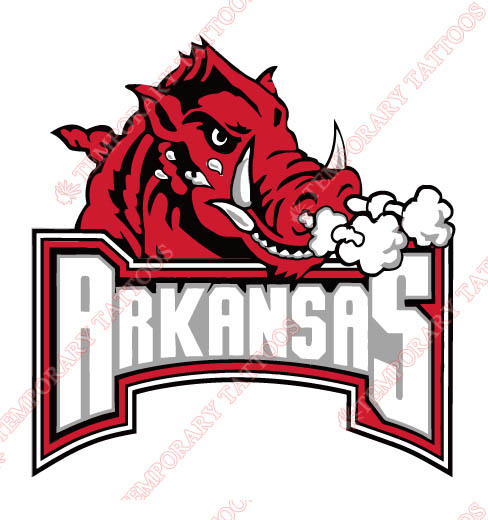 Arkansas Razorbacks 2001 Pres Primary Logo1 Customize Temporary Tattoos Stickers N3748