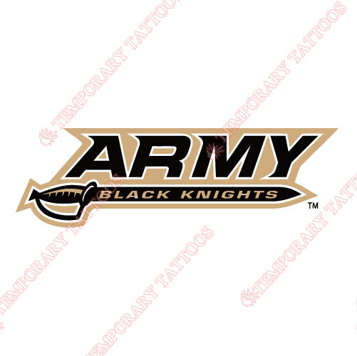 Army Black Knights 2000 Pres Wordmark Customize Temporary Tattoos Stickers NO.3757