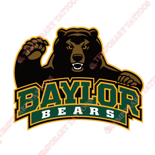 Baylor Bears 2005 Pres Alternate Customize Temporary Tattoos Stickers NO.3769