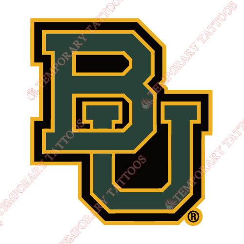 Baylor Bears 2005 Pres Wordmark Customize Temporary Tattoos Stickers NO.3771