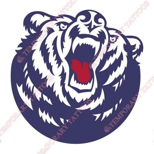 Belmont Bruins 2003 Pres Secondary Customize Temporary Tattoos Stickers NO.3773