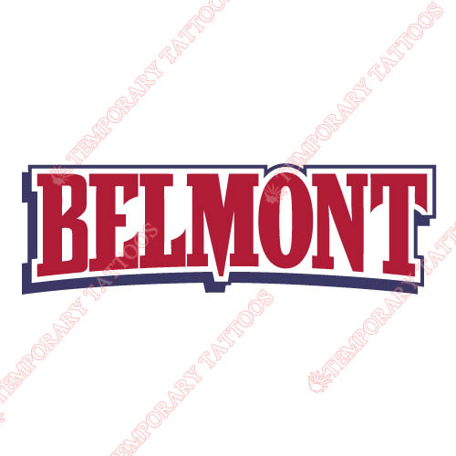 Belmont Bruins 2003 Pres Wordmark Customize Temporary Tattoos Stickers NO.3774