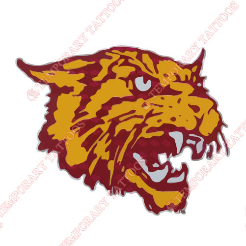 Bethune Cookman Wildcats 1996 Pres Alternate Customize Temporary Tattoos Stickers NO.3999