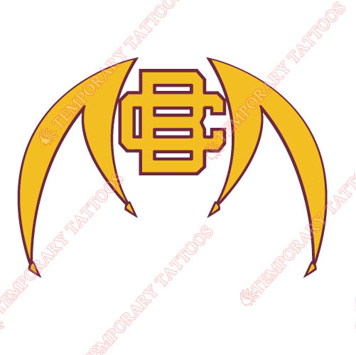 Bethune Cookman Wildcats 2010 Pres Alternate Logo 2 Customize Temporary Tattoos Stickers N4000