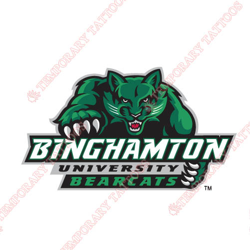 Binghamton Bearcats 2001 Pres Alternate Customize Temporary Tattoos Stickers NO.4003