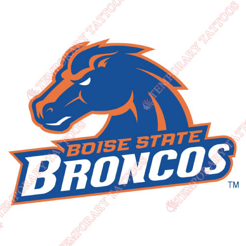 Boise State Broncos Customize Temporary Tattoos Stickers NO.4009