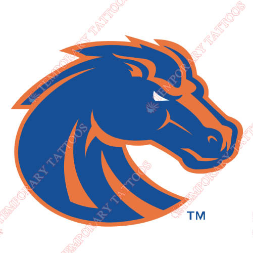 Boise State Broncos Customize Temporary Tattoos Stickers NO.4011