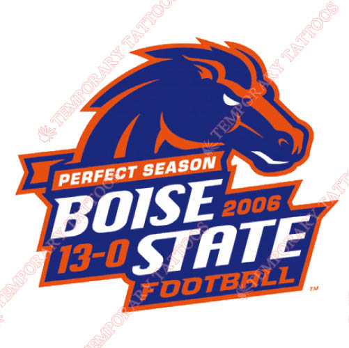 Boise State Broncos Customize Temporary Tattoos Stickers NO.4012
