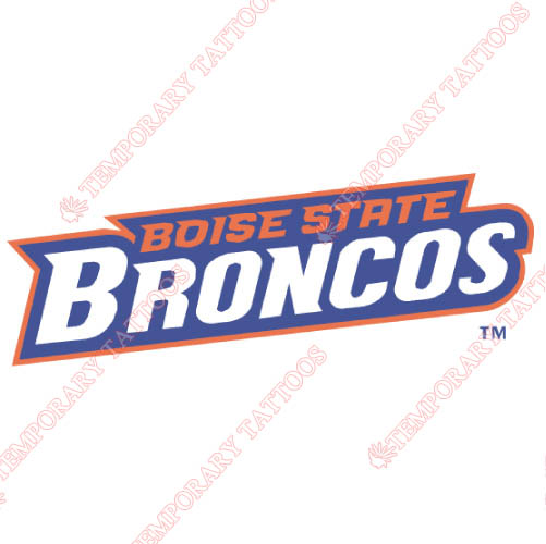 Boise State Broncos Customize Temporary Tattoos Stickers NO.4013