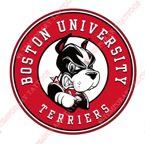 Boston University Terriers Customize Temporary Tattoos Stickers NO.4019