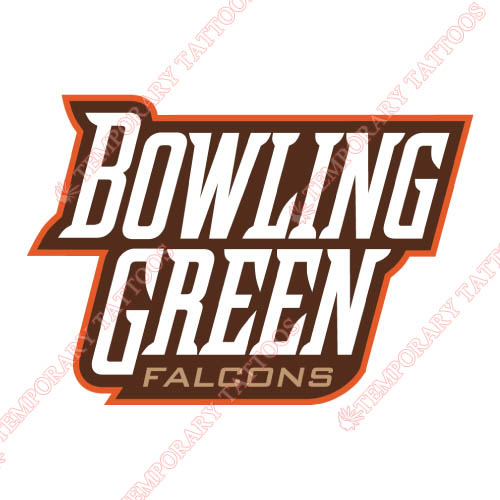 Bowling Green Falcons Customize Temporary Tattoos Stickers NO.4020