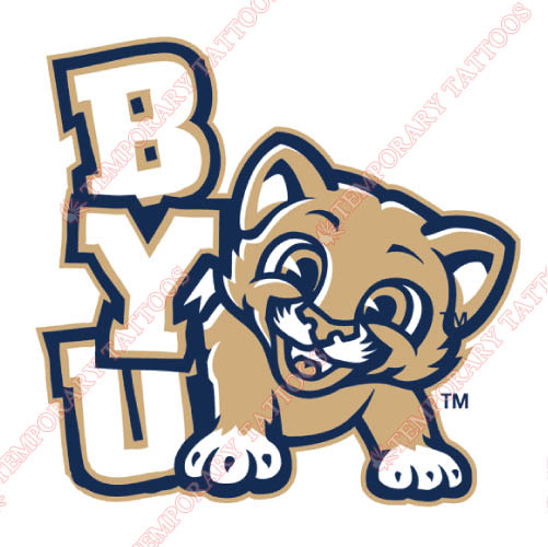 Brigham Young Cougars Customize Temporary Tattoos Stickers NO.4025