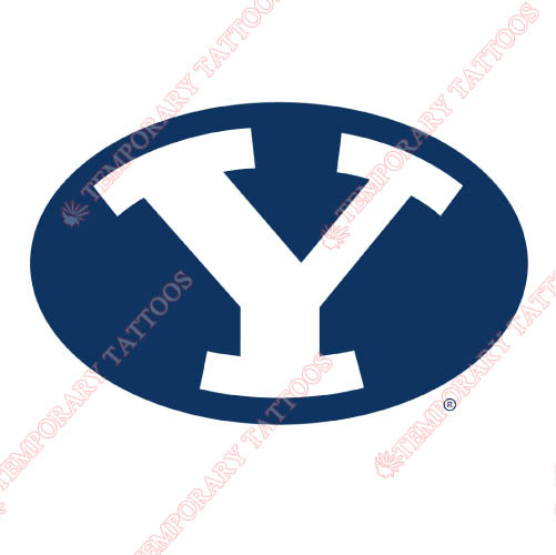 Brigham Young Cougars Customize Temporary Tattoos Stickers NO.4026