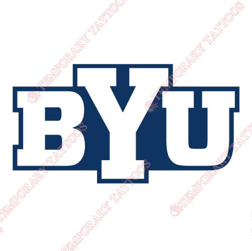 Brigham Young Cougars Customize Temporary Tattoos Stickers NO.4027