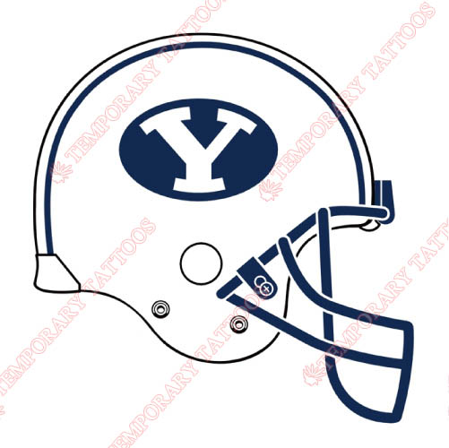 Brigham Young Cougars Customize Temporary Tattoos Stickers NO.4028