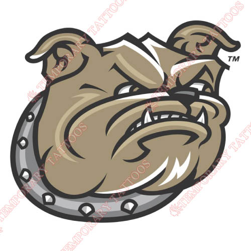 Bryant Bulldogs Customize Temporary Tattoos Stickers NO.4032